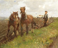 the young ploughman by harold harvey