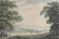 a view on the road from newport to shanklin, isle of wight by william samuel howitt