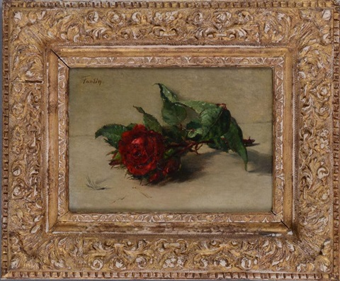 red rose by henri fantin latour