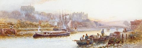 arundel from the river by walter stuart lloyd