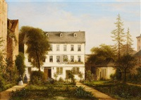 view of a house in frankfurt-sachsenhausen by carl morgenstern