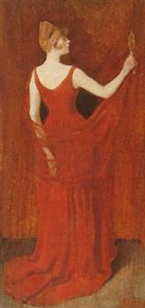 la femme en rouge by william turner dannat