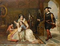 the admonishment of beatrice cenci by charles robert leslie