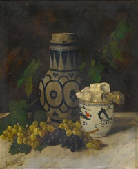 nature morte au pot à sucre en imari by aristide bourel