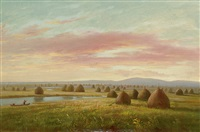 haystacks, new england by charles lanman