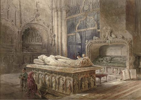 the interior of burgos cathedral by ernest sir george