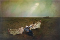 falling birdman by ma liang
