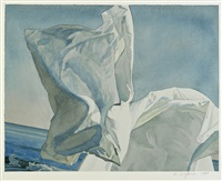 study for thrown drapery by david ligare