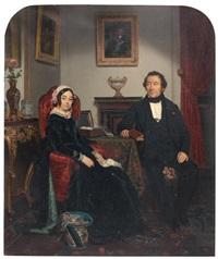 couple dans un intérieur by jean alphonse roehn