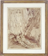 guardian angels defending adam and eve from satan by david scott