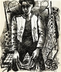 untitled (portrait of a woman) by philip guston