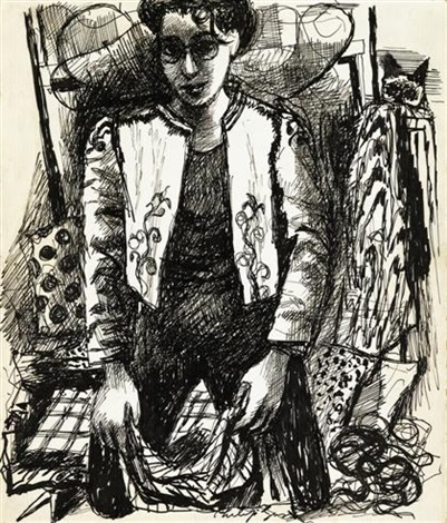 untitled portrait of a woman by philip guston