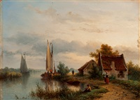 activity along the river by johannes hilverdink