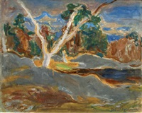 mare de franchart (forêt de fontainebleau) by gabriel francisque alexis fournier
