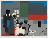 blue carolina morning by romare bearden