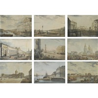 views of st. petersburg (25 works, various sizes) by ottavo toselli