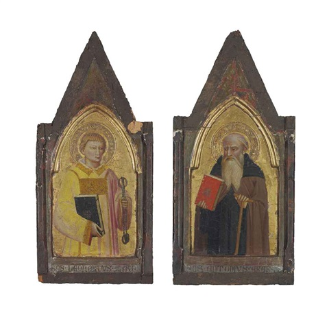 saint leonard of noblac saint anthony pair by giovanni bonsi