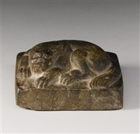 recumbent lion by anonymous-chinese (tang dynasty)