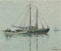 fishing boats by aldro thompson hibbard