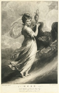 hebe, miss meyer (after sir joshua reynolds) by johann jacobe