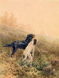chiens de chasse à l'arrêt by alfred charles weber