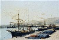 le port de bône by jules vernier