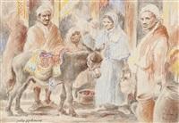 scène de marché by jules rabannes