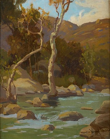 stream and trees by marion kavanaugh wachtel