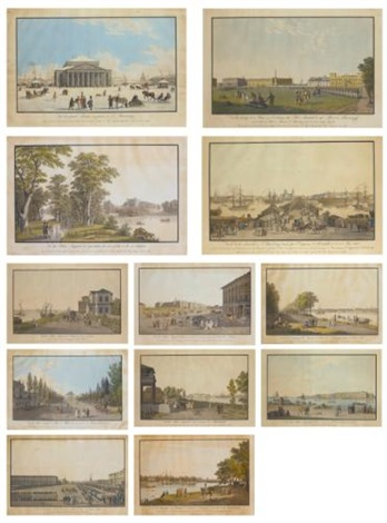 views of st petersburg set of 12 by mathias gabriel lory