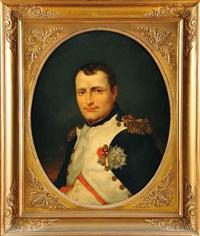 portrait de napoléon 1er en uniforme de colonel des grenadiers de la garde, portant la légion d'honneur et la couronne de fer by jacques-louis david