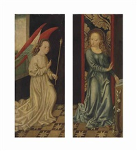the archangel gabriel; the virgin annunciate (pair) by german school (16)
