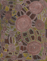 tingari men's dreaming at mitakujarri by tjungurrayi shorty lungkarda