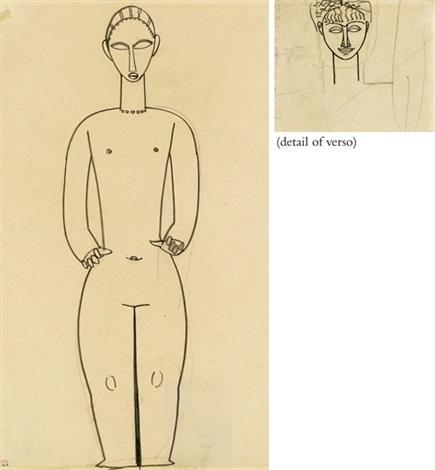 hermaphrodite studio di volto verso by amedeo modigliani