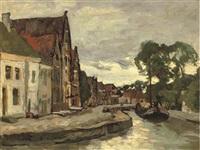 a canal in hoorn by charles dankmeijer