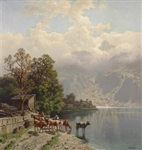 in der karthause am achensee, tyrol by theodor (wilhelm t.) nocken