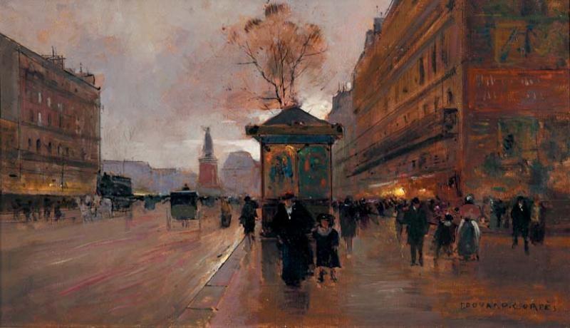 boulevard du temple le soir by edouard léon cortès