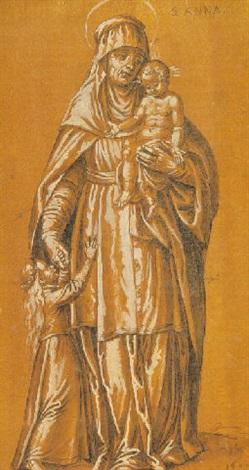 santa ana la virgen y el niño by francisco pacheco