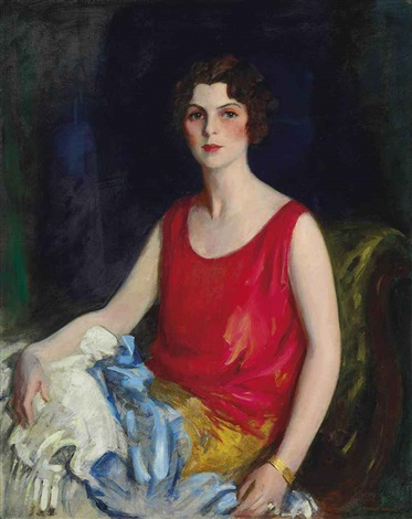 portrait of loretta hines howard by robert henri