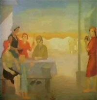 le repas des moissons by nicolai leontiev