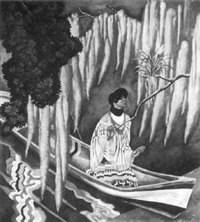 seminole woman in a canoe by eugene francis savage