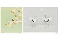 spring (+ japanese crane; set of 2) by atsushi uemura