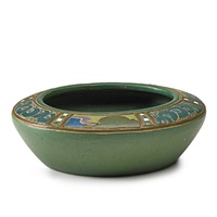 fine squat bowl by frederick hurten and agnes rhead