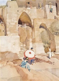 the pink parasol by william russell flint
