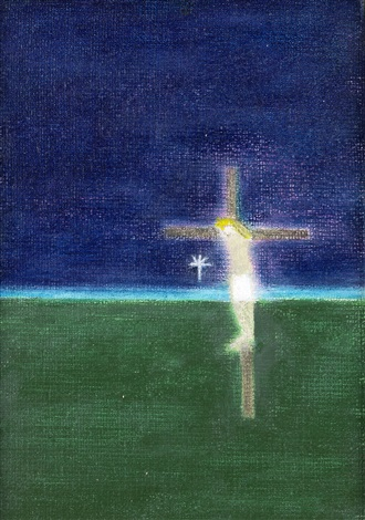 crucifixion 6 by craigie aitchison