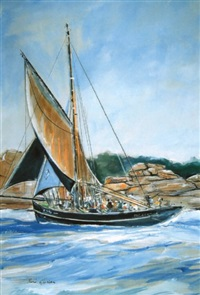 """le pen duick"" au large de saint-malo by rene glorion"