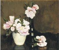 pink flowers by liekie arntzenius doorman
