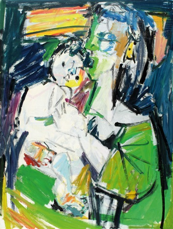 mother and daughter by pinchas litvinovsky