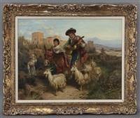 castillian courtship scene by robert kemm