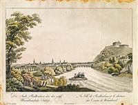 die stadt radkersburg und das gäfl. wurmbrandsche schloß (engraved by johann ziegler) by ferdinand runk
