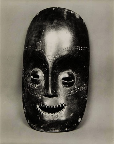 african mask serrated mouth by walker evans